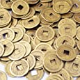 "50pcs Feng Shui I-ching Coins Fortune Coin Dia:20mm (0.8"") W Free Fengshuisale Red String Bracelet by fengshuisale"