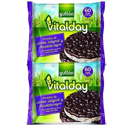Gullón Vitalday Tortitas Arroz Chocolate Gullón - Paquete de 4 x 26.25 gr - Total: