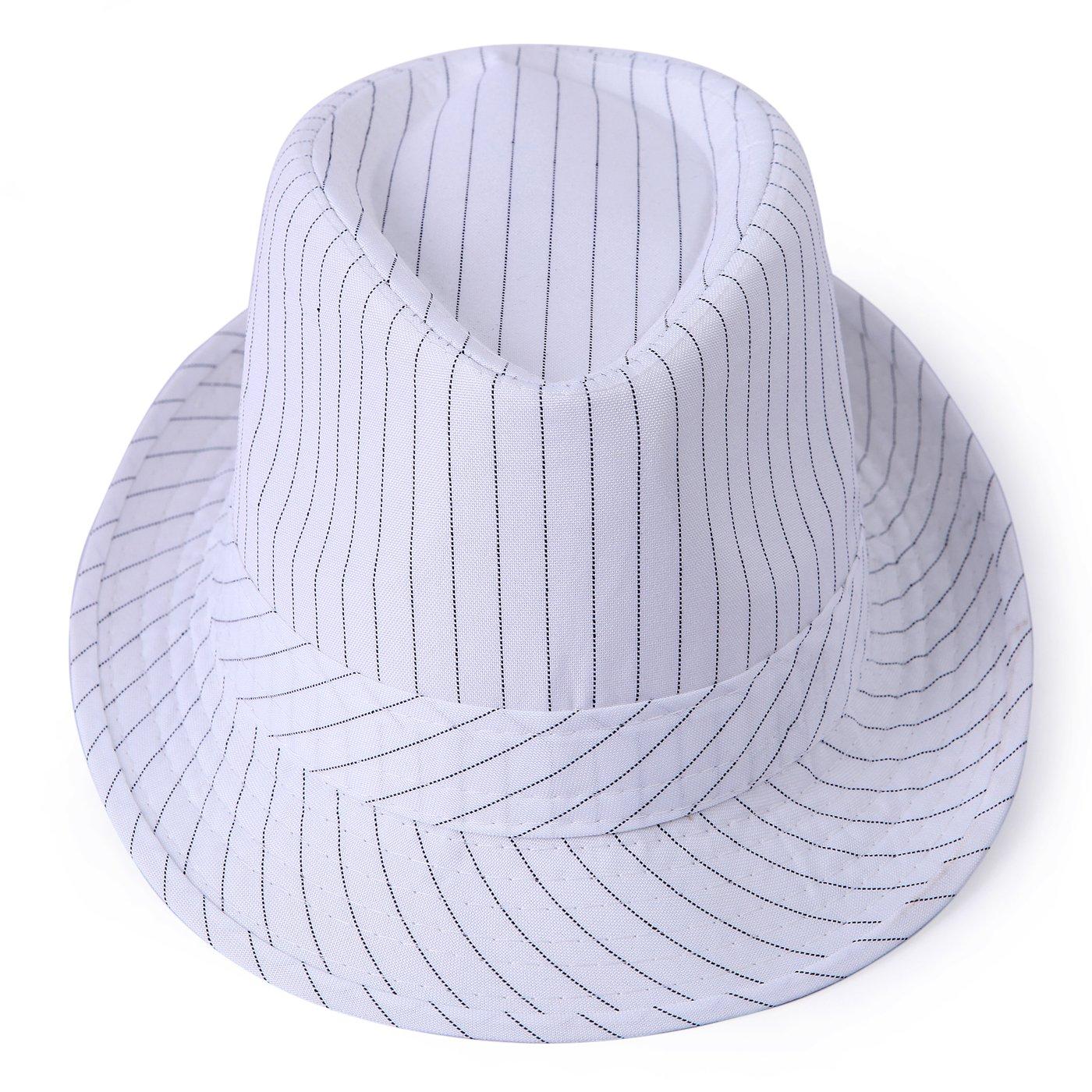 HDE Unisex Fedora Hat Gangster Short Brim Pinstripe Cap HDE-Z291