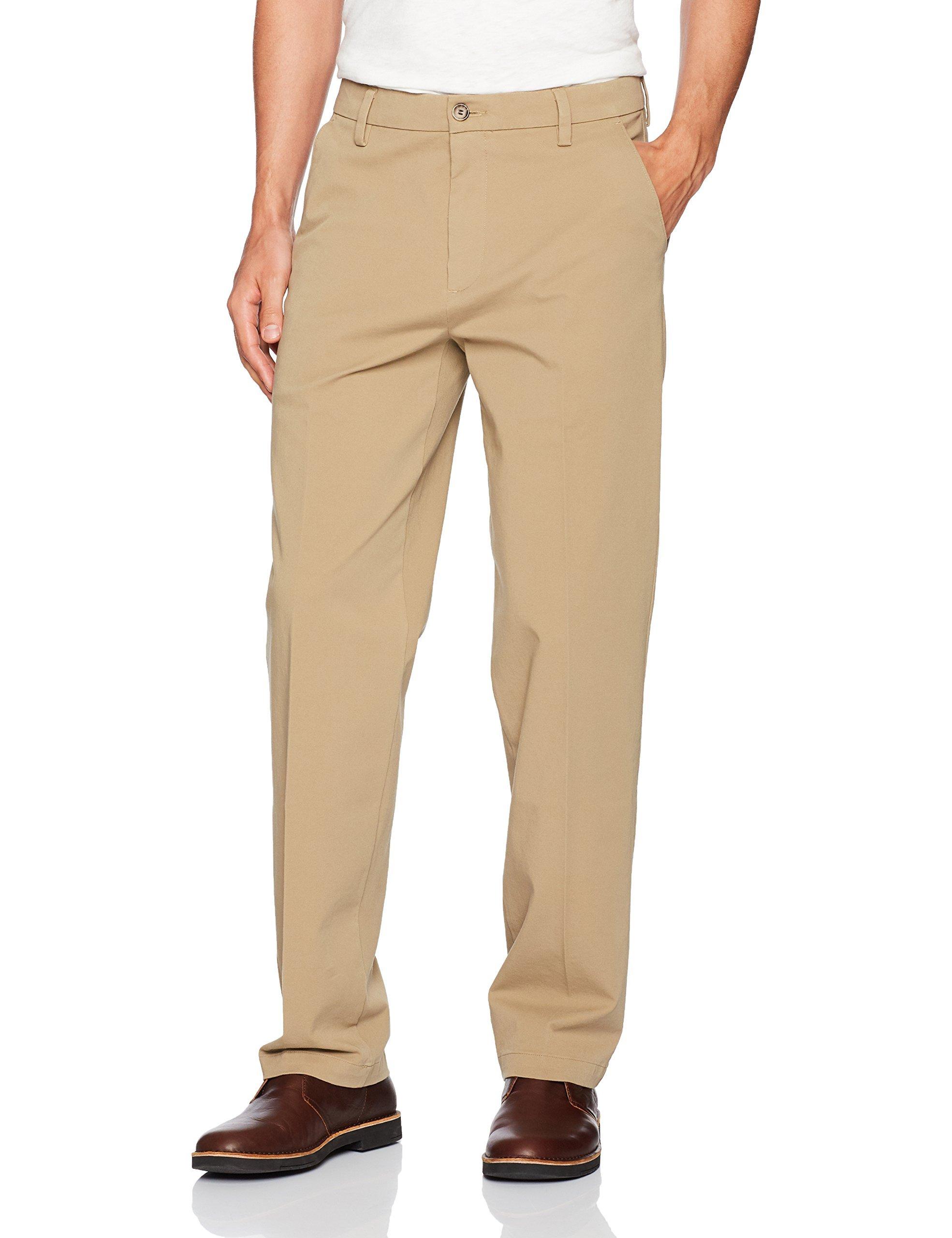 Dockers Men's Big and Tall Classic Fit Workday Khaki Smart 360 Flex Pants D3, New British Khaki (Stretch), 44W x 32L