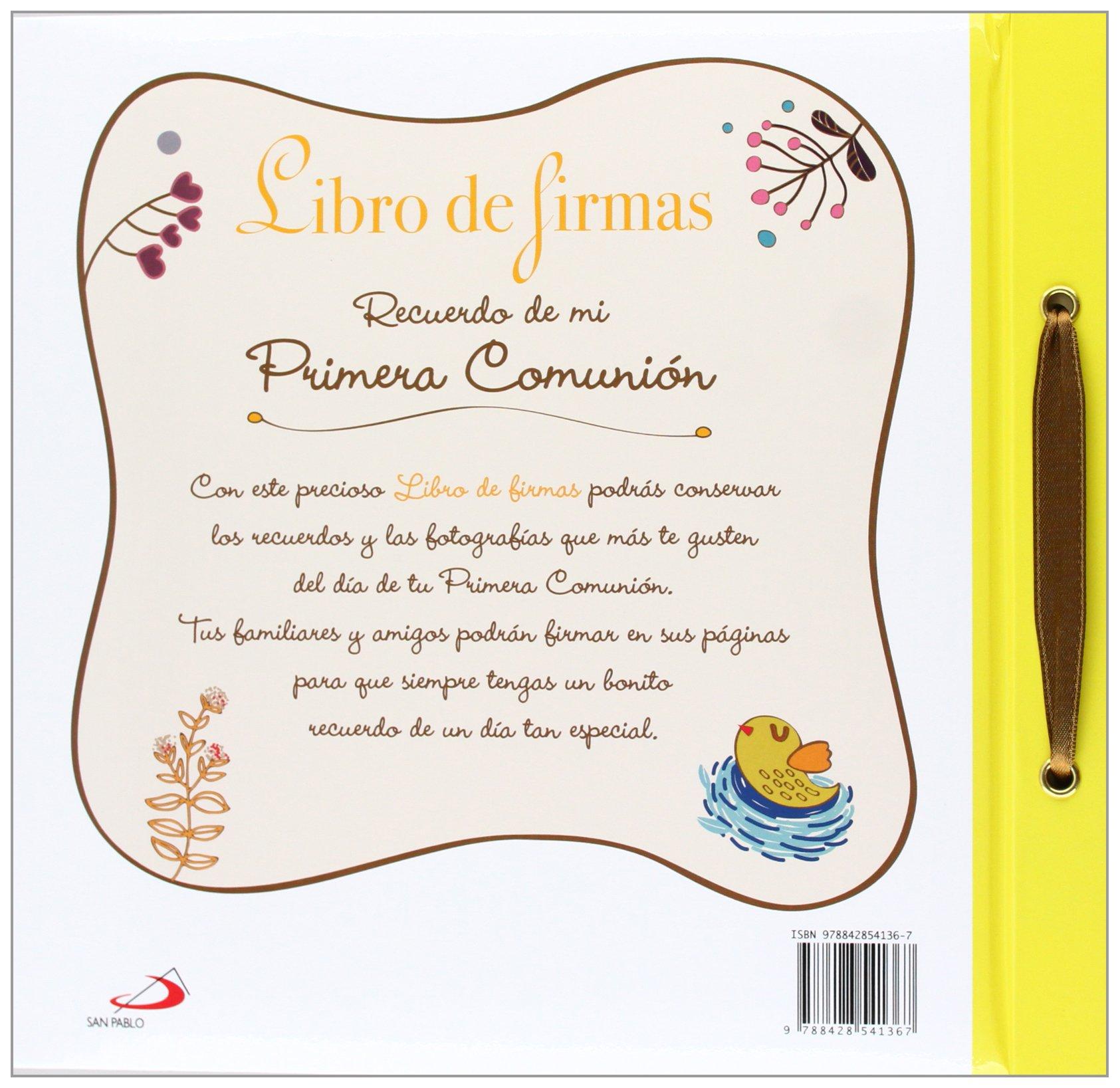 86393ec956f Libro de firmas. Recuerdo de mi Primera Comunión Mis primeros libros   Amazon.es  Equipo San Pablo