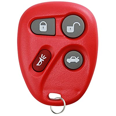 KeylessOption Keyless Entry Remote Control Car Key Fob Replacement for 25695954, 25695955 -Red: Automotive