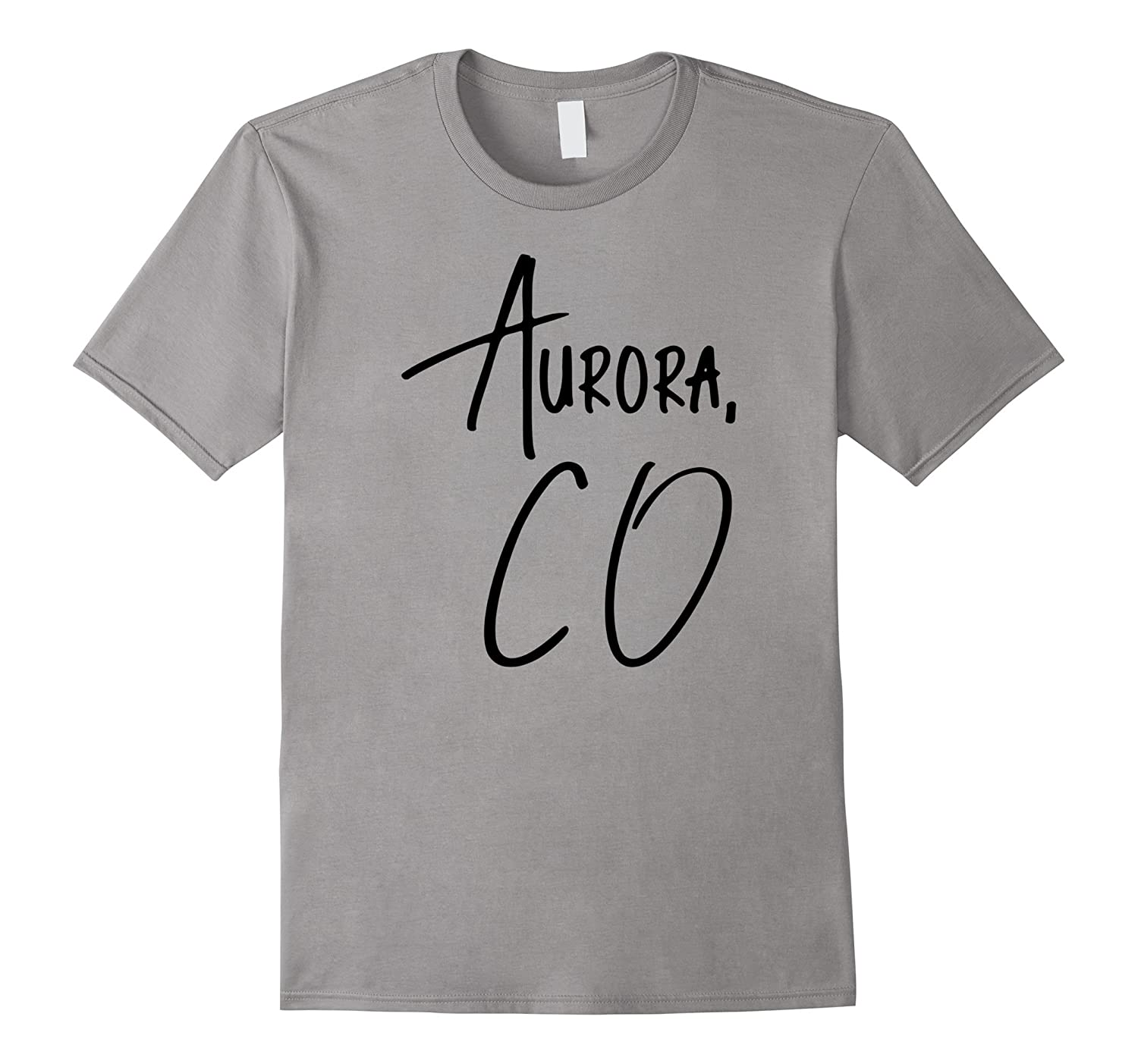 Aurora Colorado USA American City T-Shirt Black-CD