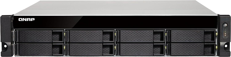 QNAP TS-853BU-RP Ethernet Bastidor (2U) Negro NAS - Unidad Raid (Unidad de Disco Duro, SSD, SATA, Serial ATA II, Serial ATA III, 2.5,3.5