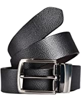 KAEZRI 100% Genuine leather Reversible Black and Brown Casual and Formal Belt For Men and Boys