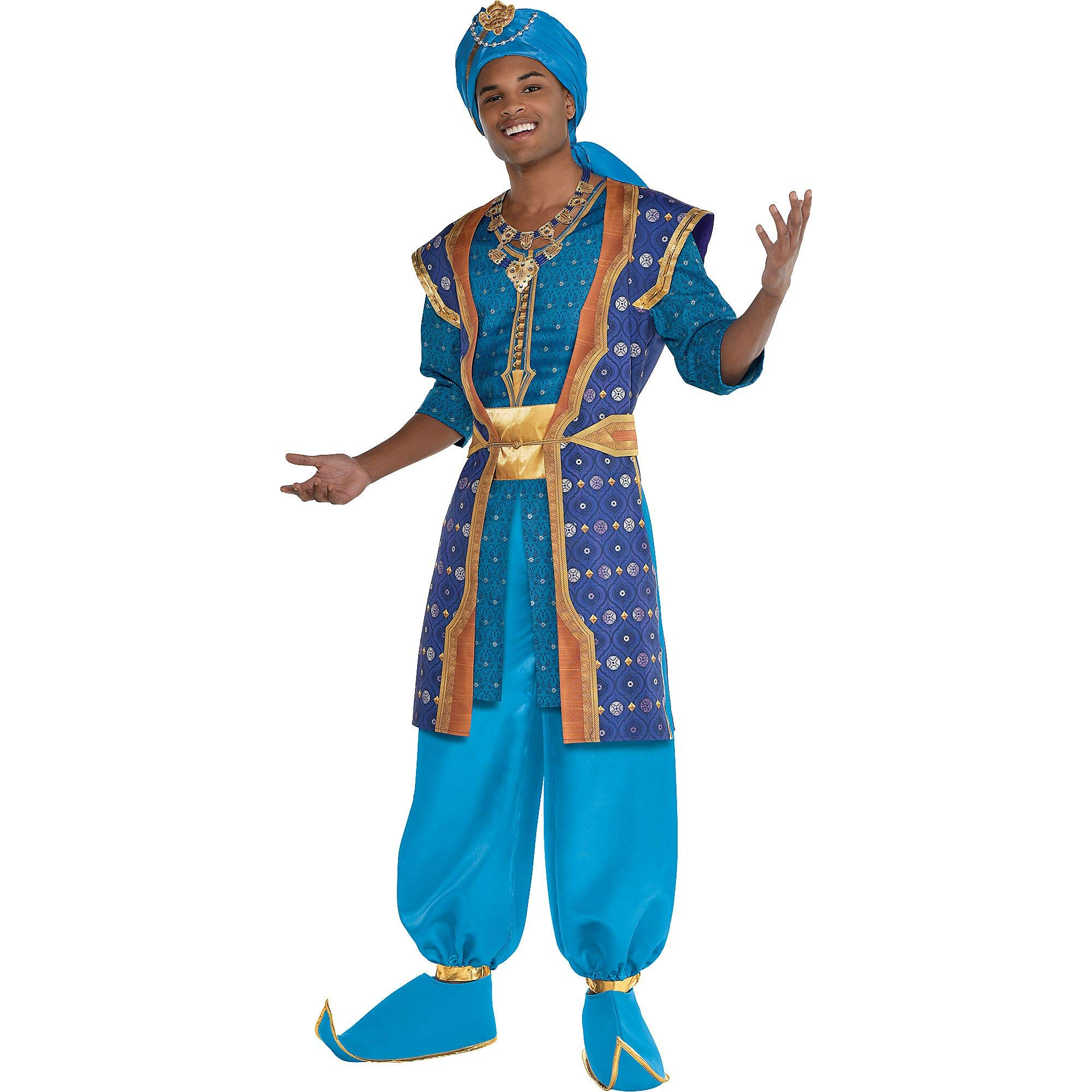 Party City Aladdin Live-Action Genie Parade Costume for Adults, Standard Size, Includes Shirt, Pants, Necklace, and More by Party City
