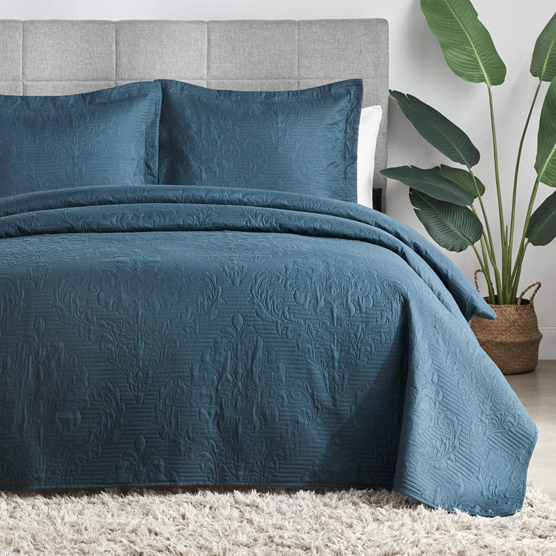 Hansleep Quilt Set Lightweight Bed Decor Coverlet Set Comforter Bedding Cover Bedspread for All Season Use Teal, King