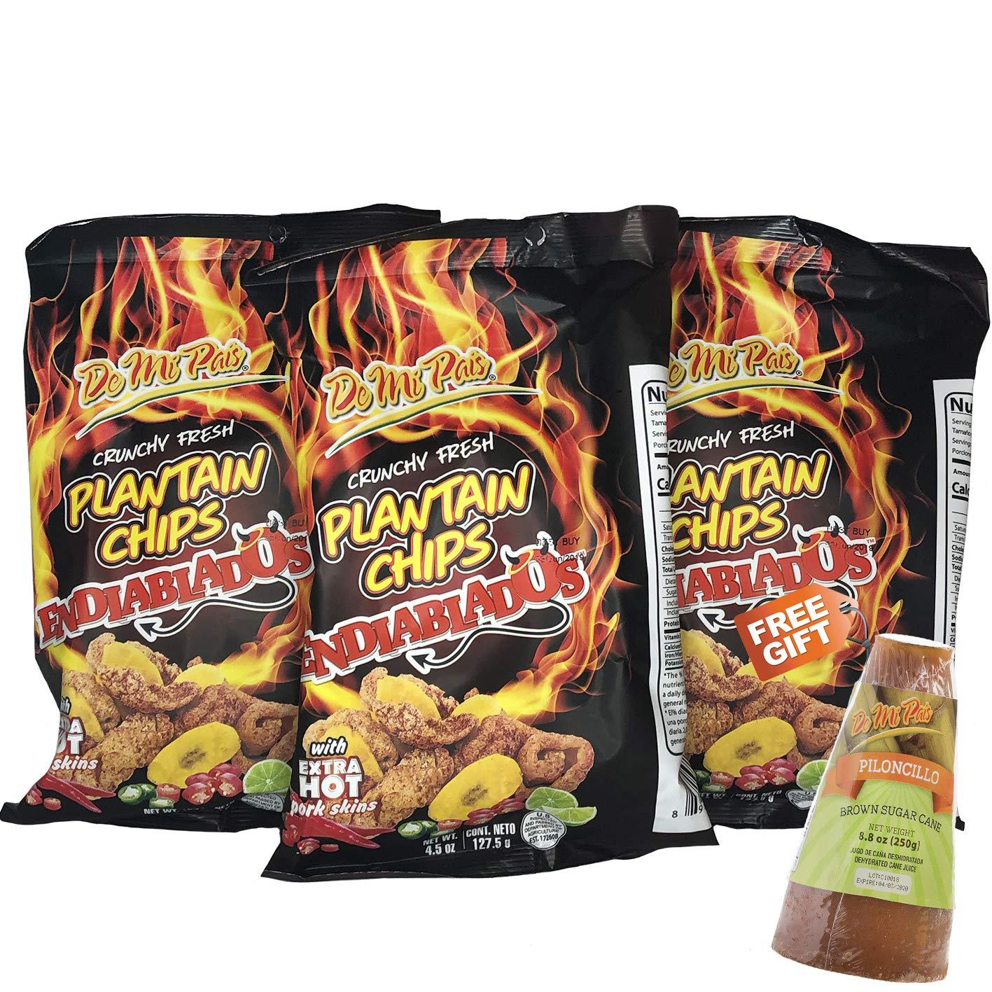 DMP Plantain Chips Devil/Endiablados 24-PACK - 1 FREE GIFT