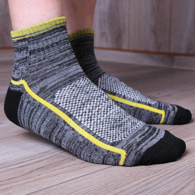 L/&K Lot de 6 homme chaussettes sportive multicolore chaussette en coton hiver 2104 43//46