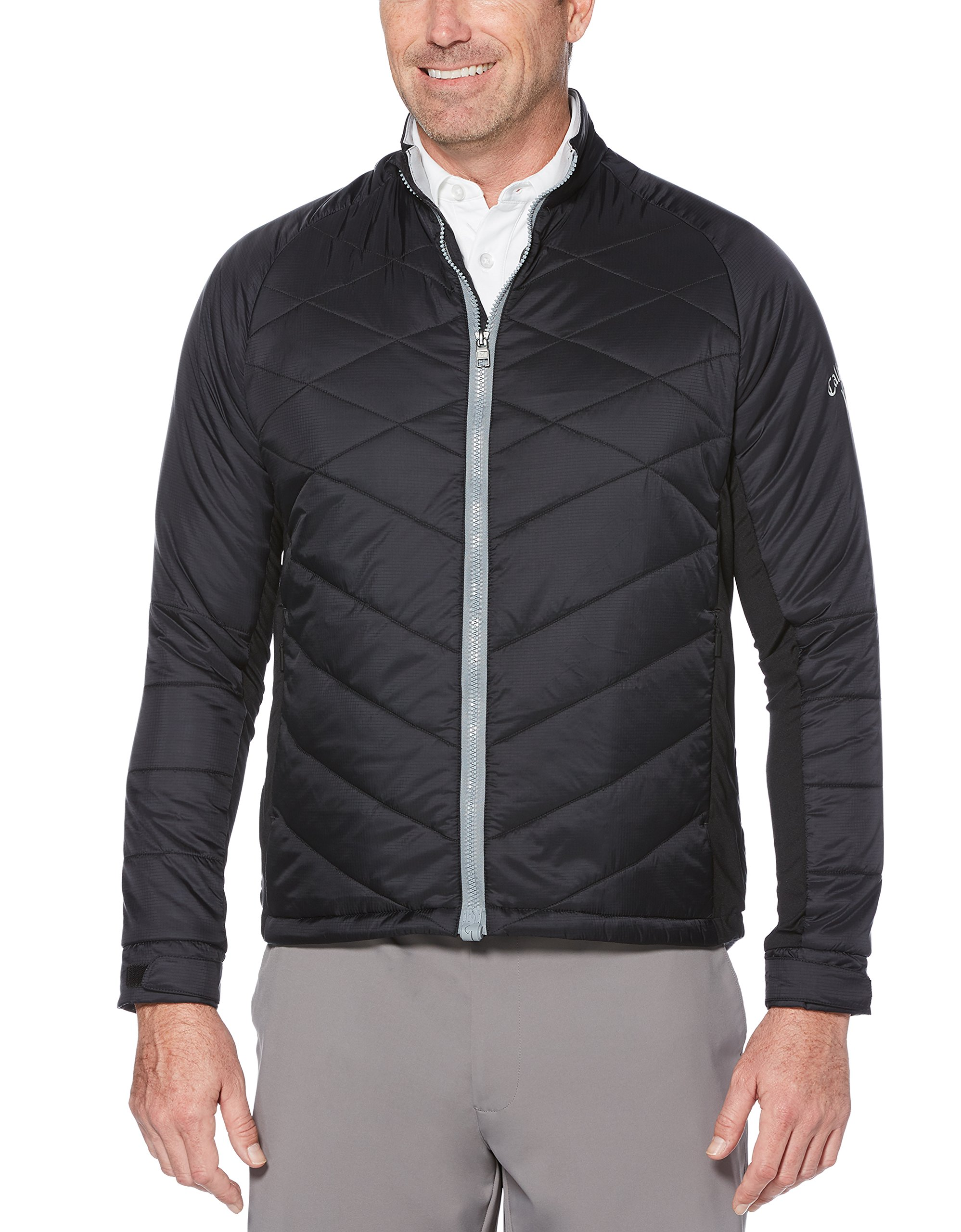 Callaway Men's Thermal Performance Quilted Golf Jacket, Caviar, 3X-Large by Callaway