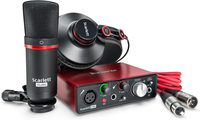 Focusrite Scarlett-Solo-Studio Gen2 USB Audio Interface and ...