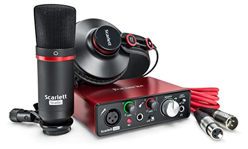 Focusrite Scarlett Solo Studio (2nd Gen) USB Audio Interface and Recording Bundle