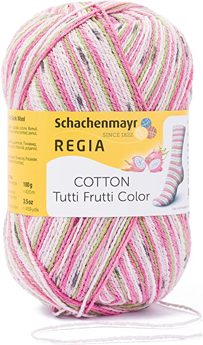 Regia Cotton Tutti Fruitti 4 PLY Knitting Crochet Knit Yarn Craft Wool 100g Ball