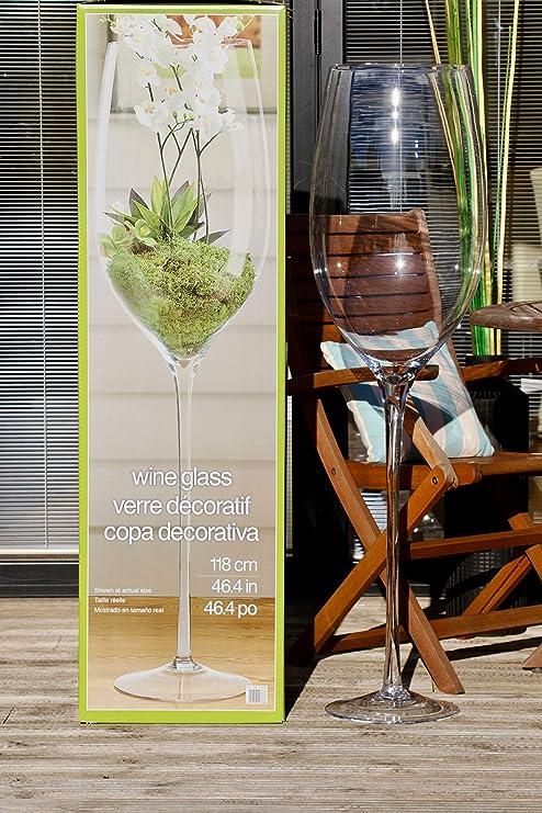 Vaso de vino de gran tamaño REALMENTE GRANDE, elegante florero para impresionar en la decoración de la sala de estar, regalo ideal 118cm: Amazon.es: Hogar