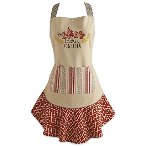 """8e4f0b7dc0d5 DII Cotton Thanksgiving Kitchen Apron with Pocket and Extra Long Ties, 28.5  x 26"""""""