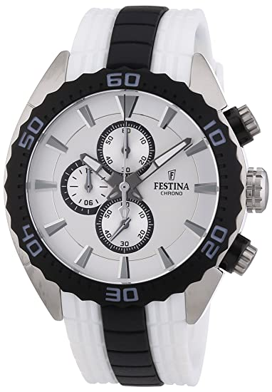 Festina F16664/1 - Reloj cronógrafo de cuarzo para hombre con correa de caucho, color: Amazon.es: Relojes