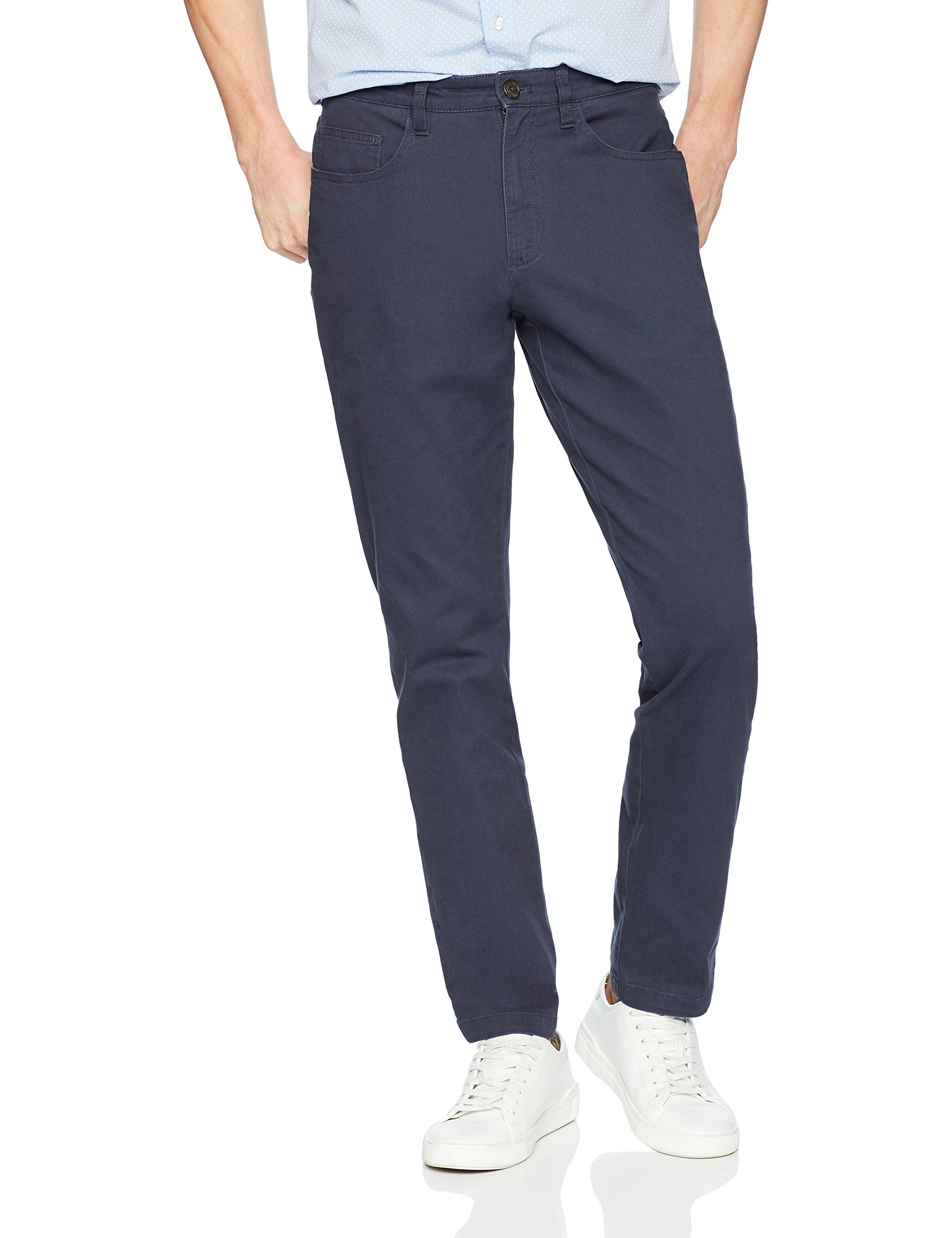 Goodthreads Men's Slim-Fit 5-Pocket Chino Pant, Navy, 38W x 29L