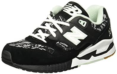New Balance 530 Summer Utility Athletic Women s Shoes Size 6 Black White cd07403123
