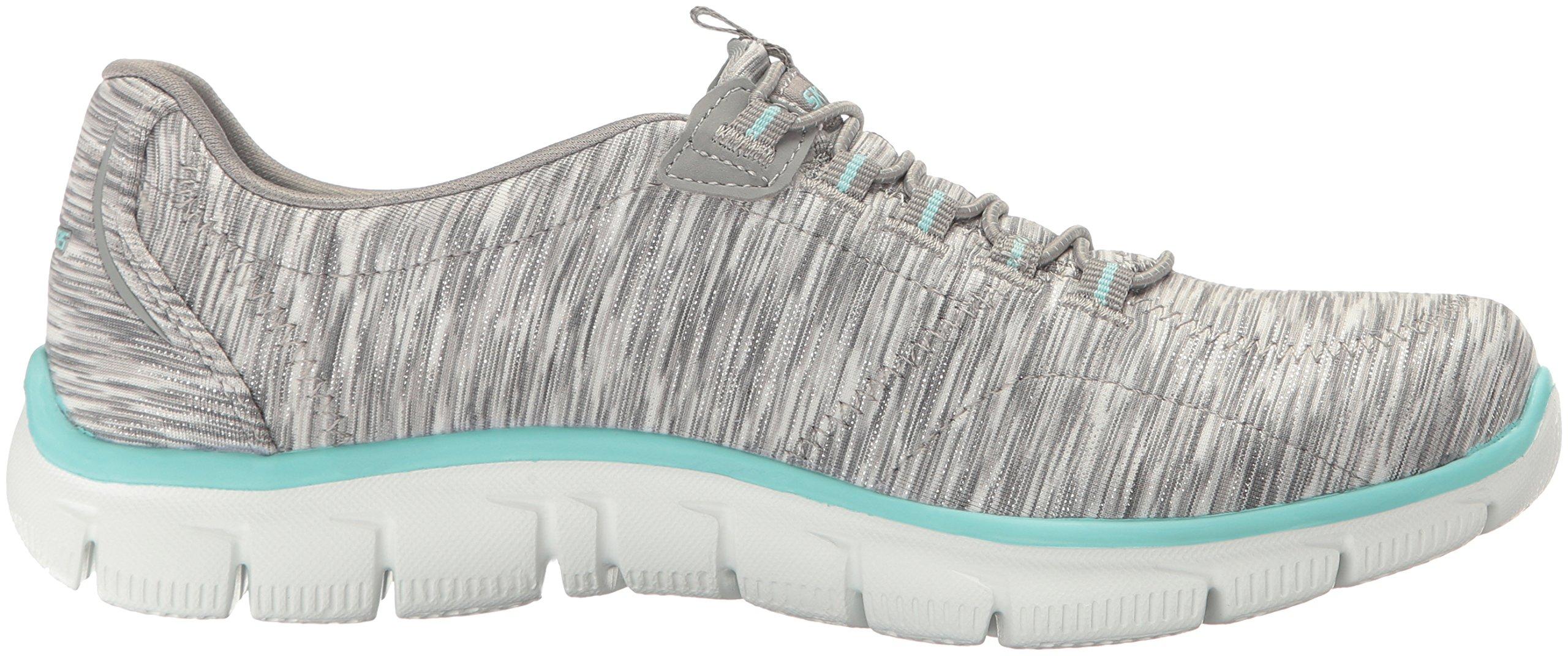 Skechers Women's Sport Empire - Rock Around Relaxed Fit Fashion Sneaker, Gray/Light Blue, 9 B(M) US by Skechers (Image #7)