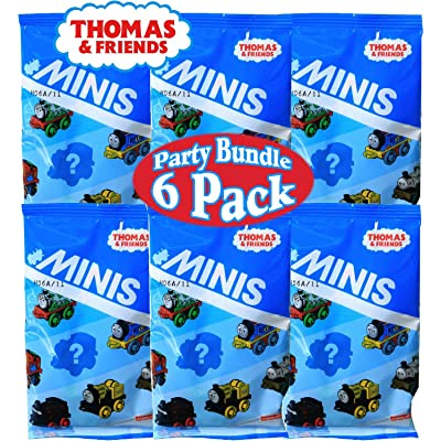 Fisher-Price Thomas & Friends Minis (Engines) Blind Bags Gift Set Party Bundle - 6 Pack: Toys & Games