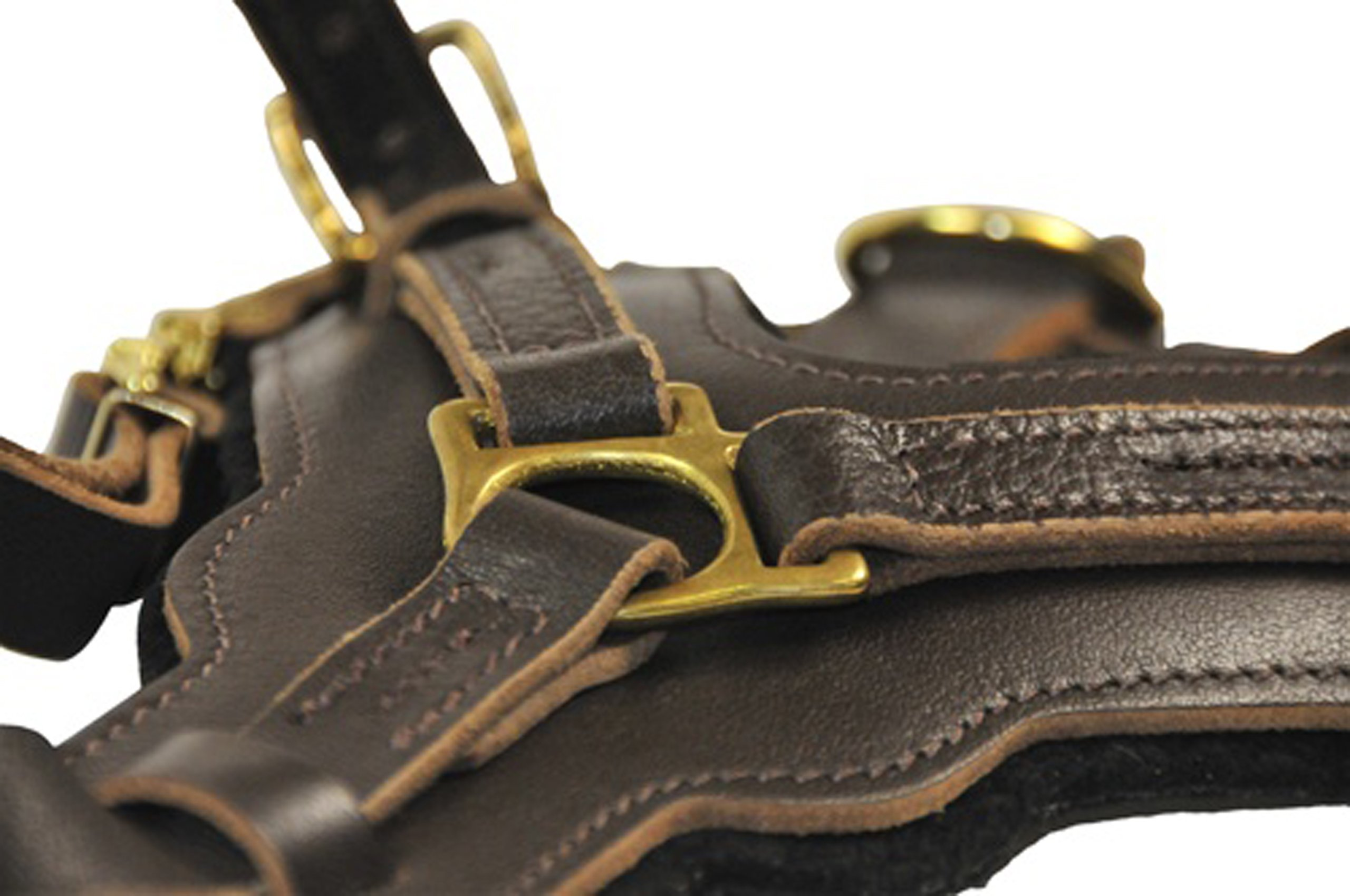 Dean and Tyler The Victory Solid Brass Hardware Dog Harness, Brown, Medium - Fits Girth Size: 23-Inch to 34-Inch by Dean & Tyler (Image #2)