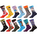 WeciBor Men's Funny Casual Combed Cotton Novelty Crazy Fancy Socks Packs
