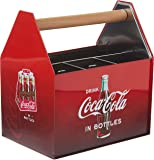 Coca Cola Galvanized Tin Utensil Caddy with Handle