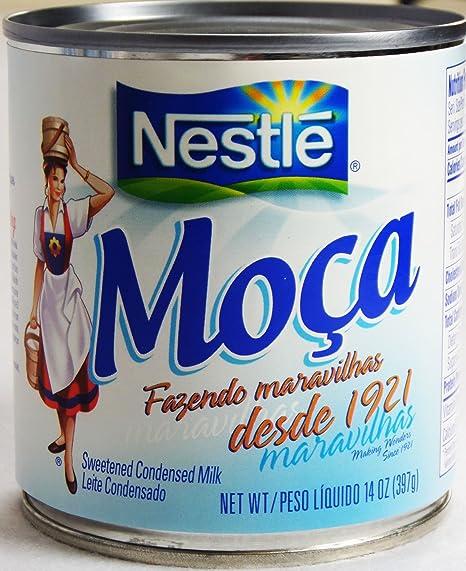 Amazon.com : Nestlé Moça Leite Condensado 397g | Sweetened Condensed Milk 14oz. (Pack of 04) : Grocery & Gourmet Food