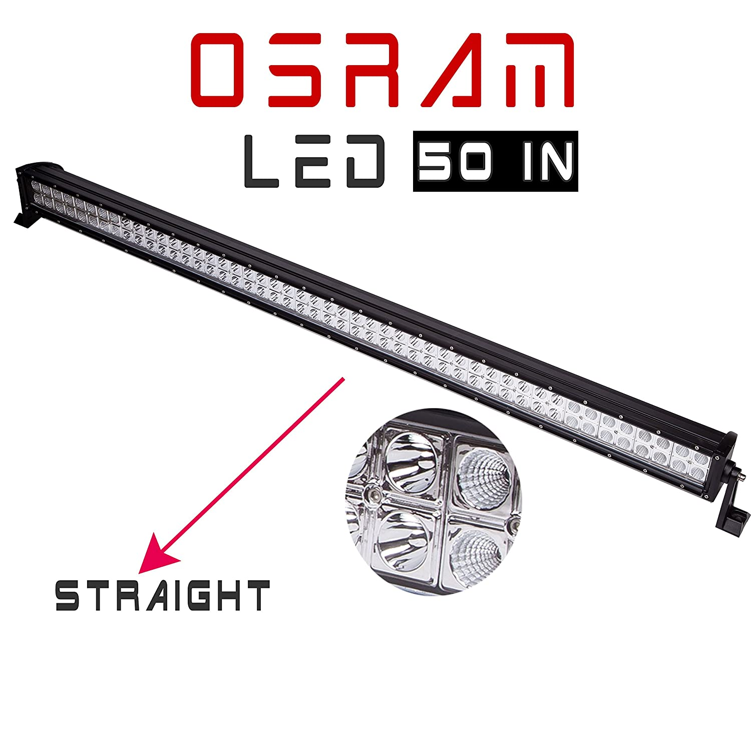 led light bar spot flood for hummer h3 1 lead remote control wiring switch kit 611553554287