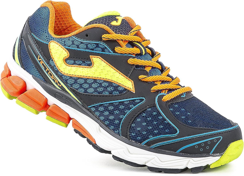 Joma R.Victory 603 Marino-Naranja - Zapatillas para Correr para Hombre, Color Marino-Naranja, Talla 42: Amazon.es: Zapatos y complementos