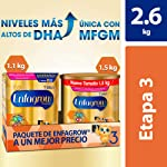 Leche de Crecimiento para Niños mayores de 12 Meses, Enfagrow Premium Etapa 3, En Polvo Paquete especial con 2600 gramos...
