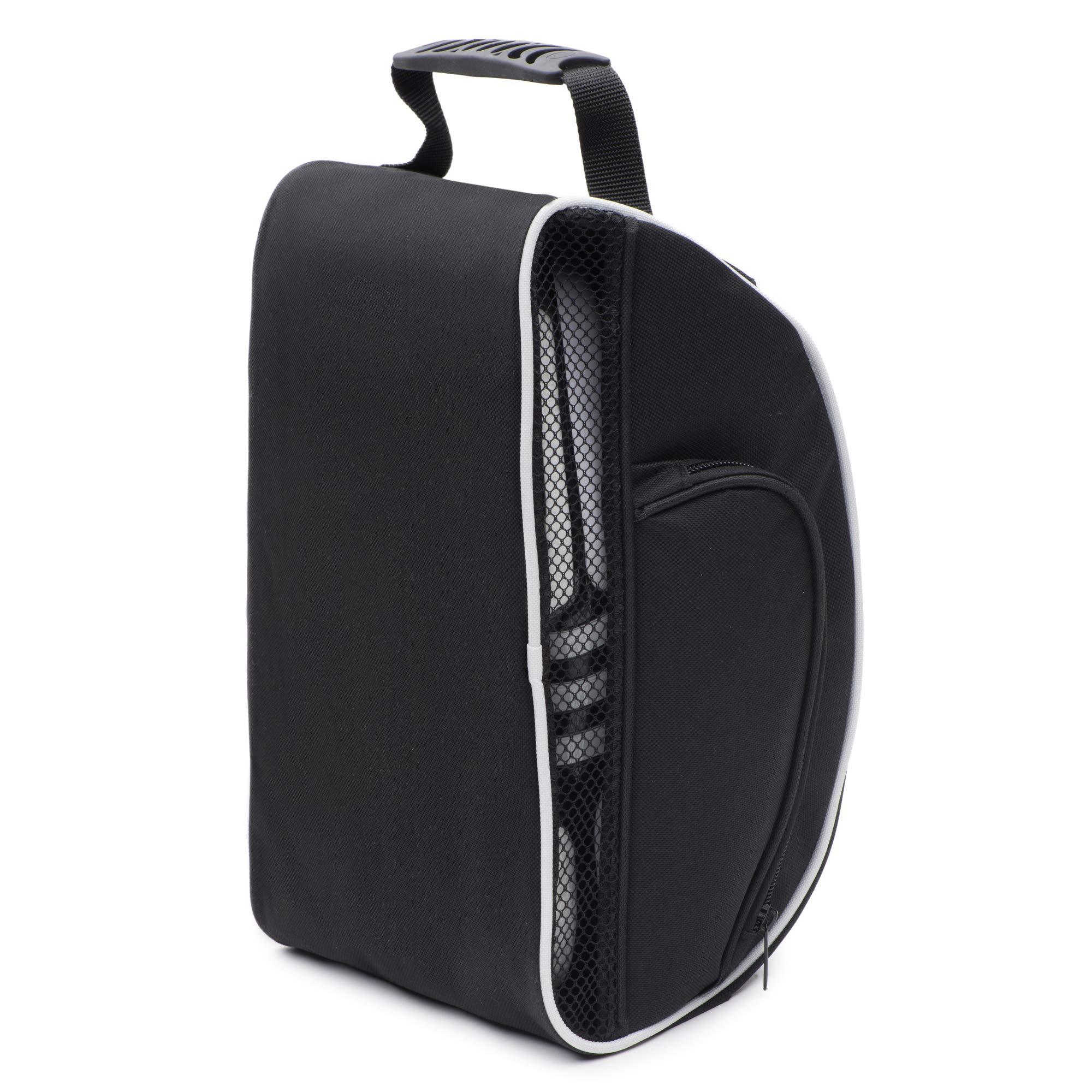 DesignWorks Golf Shoe Bag Tote for Men and Women, Hanging Clip and Large Zippered Side-Pockets, includes Golf Accessories Bonus by DesignWorks (Image #8)