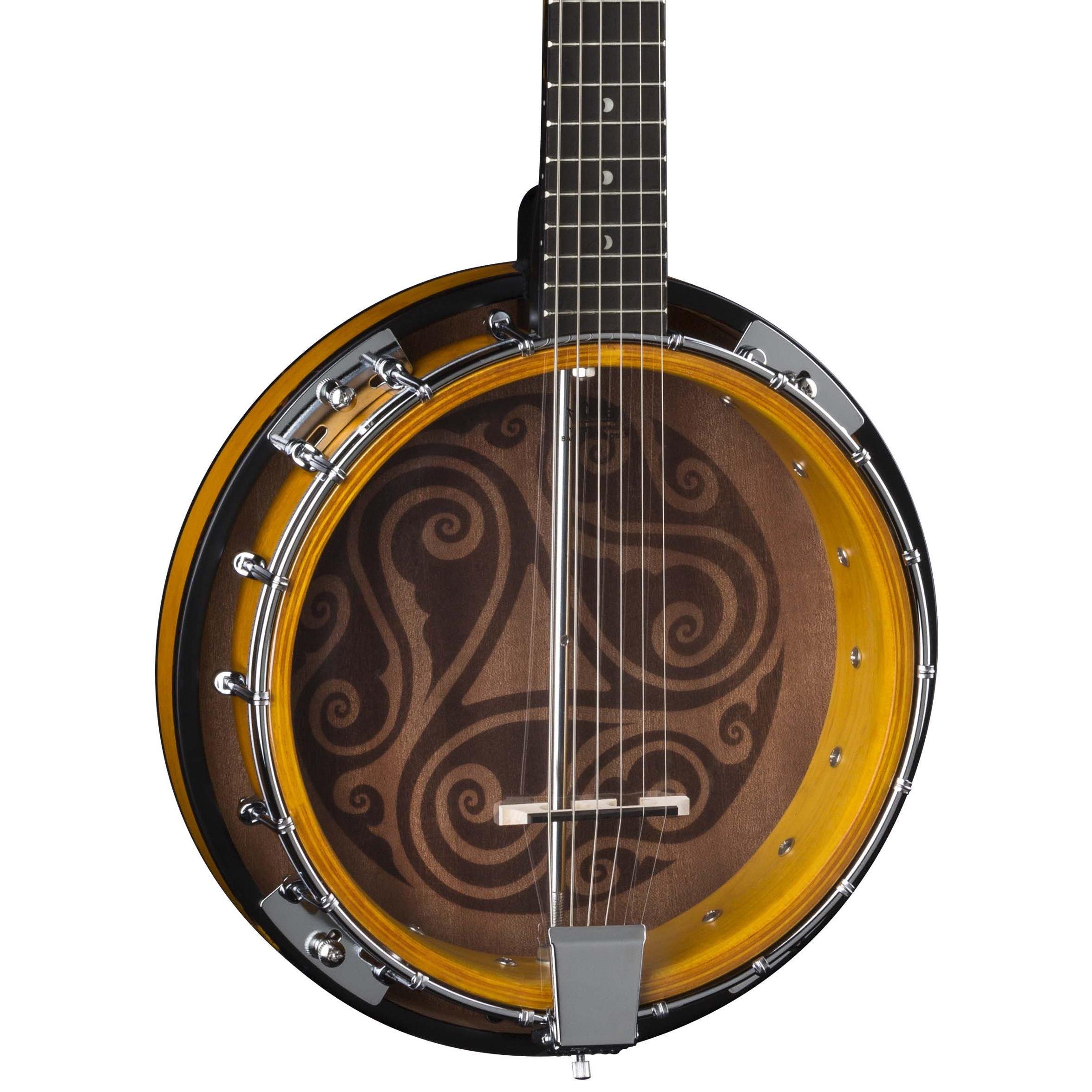 Luna Celtic 6-String Banjo, Tobacco Burst