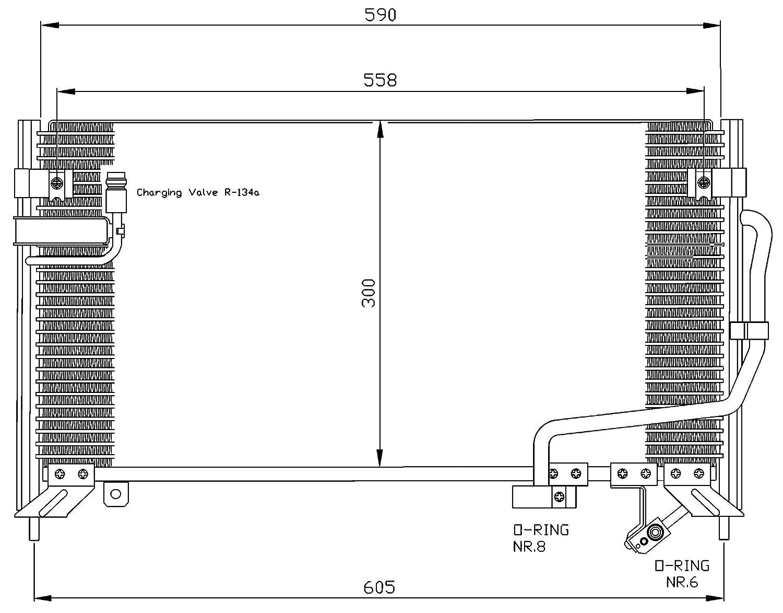 Klimaanlage NRF 35650 Kondensator