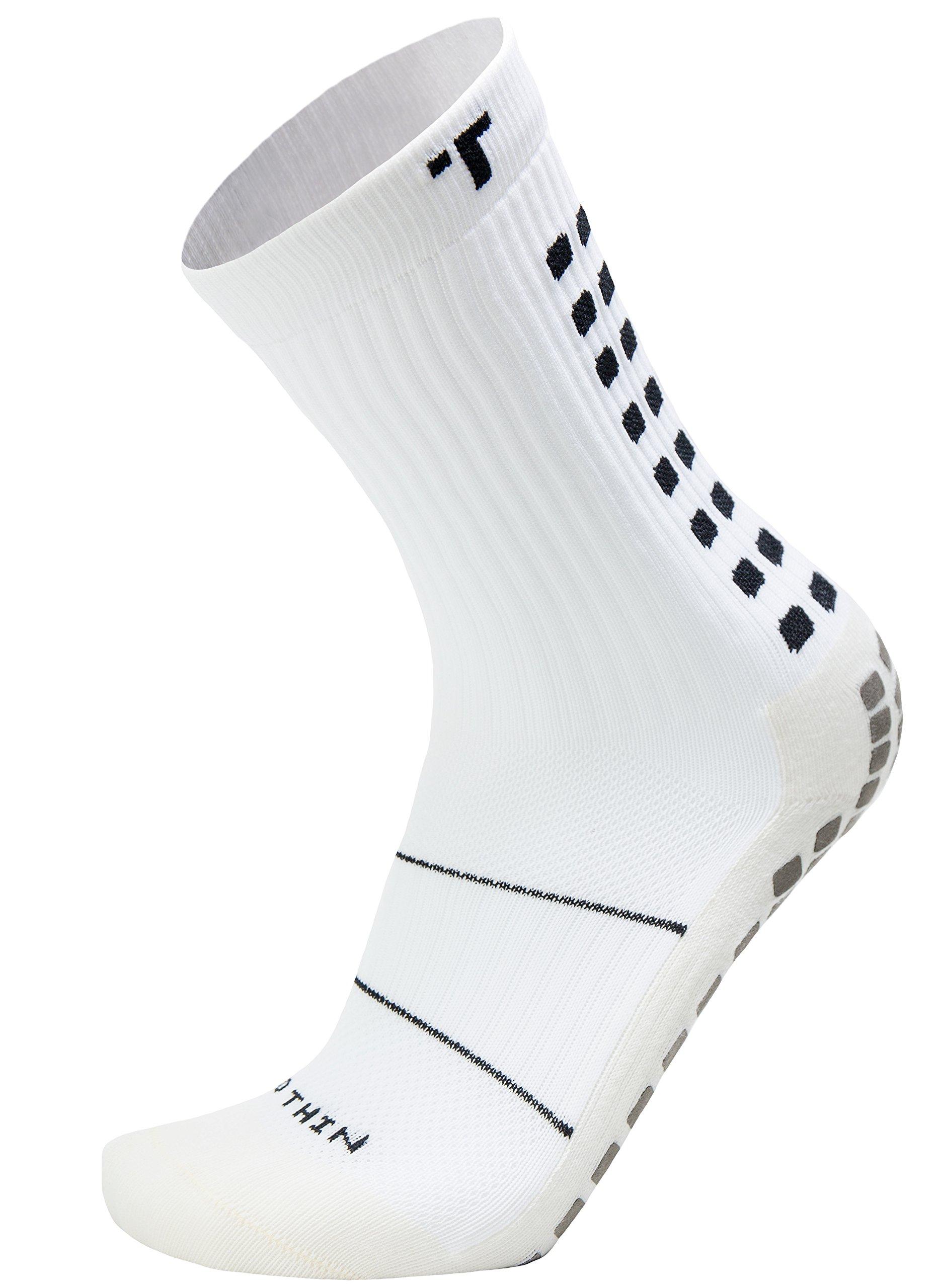 21f700ffe149 Galleon - Trusox Mid-Calf Crew Thin Soccer Sock (Small) White