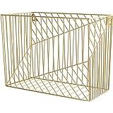 U Brands Metal Hanging File Organizer, Desktop Accessory, Vena Collection, Gold (3231U02-06)