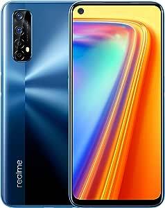 "realme 7 - Smartphone de 6.5"", 6GB RAM + 64GB ROM, Pantalla LCD FHD+, procesador Octa-Core Helio G95 Gaming, cuádruple cámara AI 48MP Sony + 16MP cámara Frontal. Dual SIM + 1 Micro SD. Azul Niebla"