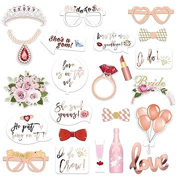 Amazon.com: KONSAIT - Botas de fotos para novia, ducha, boda ...