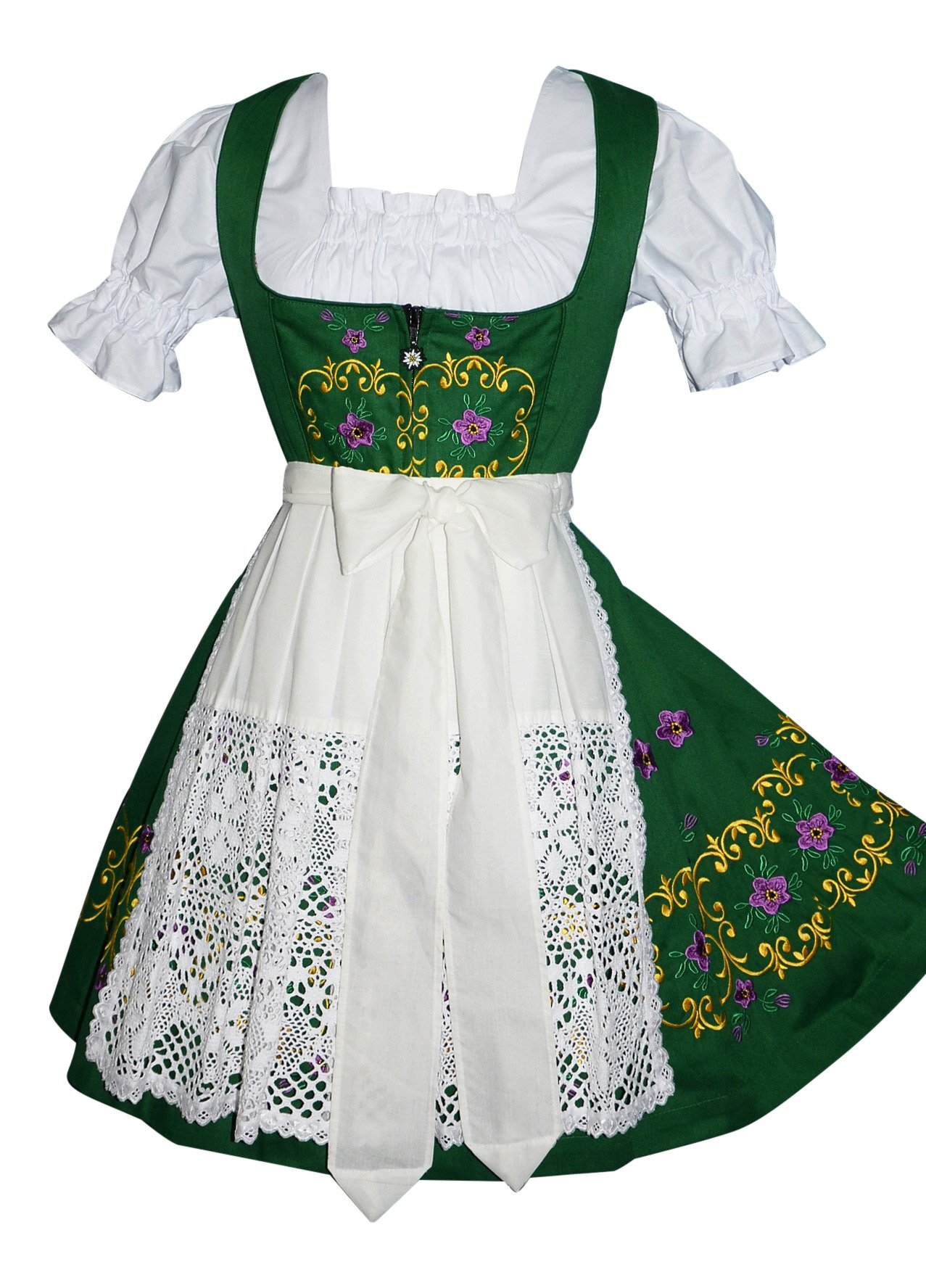Dirndl Trachten Haus 3-Piece Short German Party Oktoberfest Waitress Dress (14)