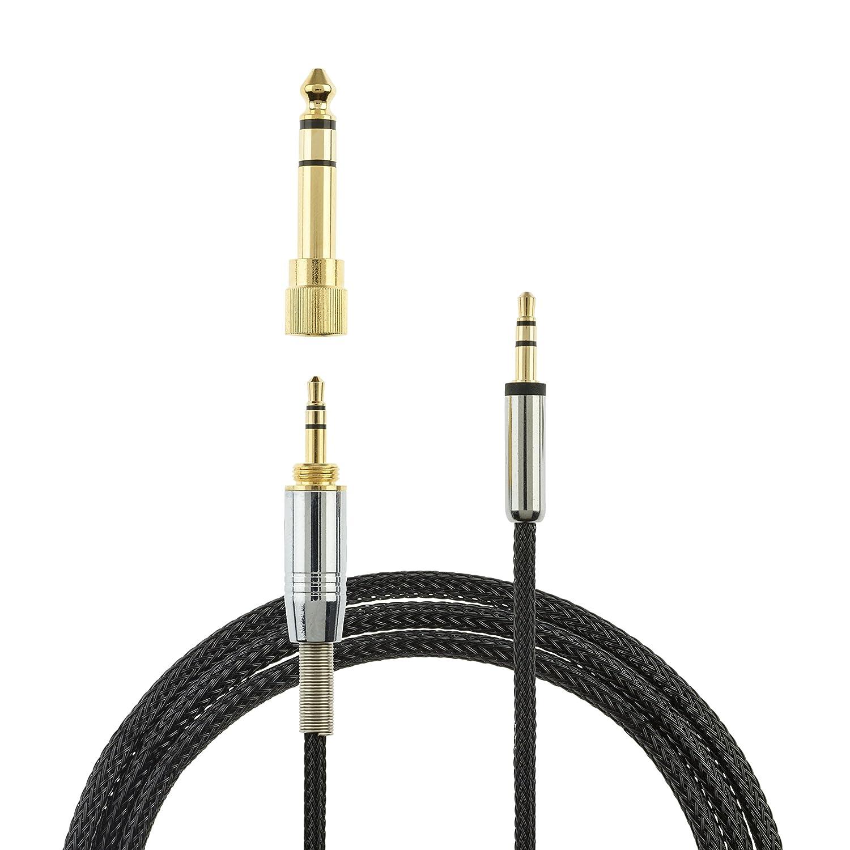 AGS Retail Ltd - Cable de Audio de Repuesto Compatible con Skullcandy HESH 2.0, HESH 3, Crusher 360, Venue, Crusher-Aviator 2.0, audífonos intraurales, Chapado en Oro