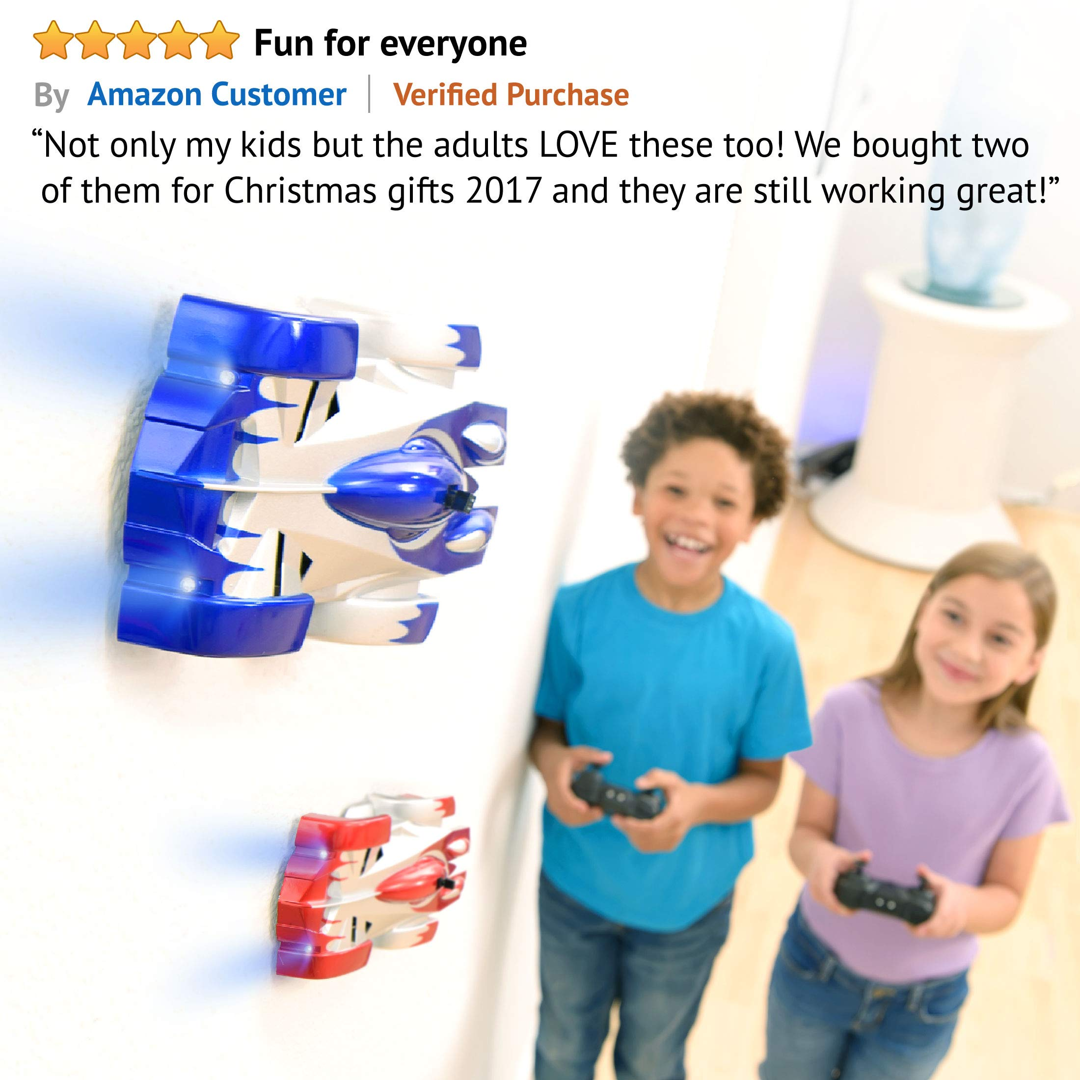 Force1 Gravity Defying RC Car - Remote Control Car for Floor or Wall Rechargeable Fast RC Car (Blue) by Force1 (Image #3)