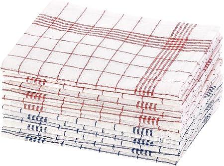 Pack de 12 torchons /à vaisselle 70 x 50 cm certifi/és OEKO-TEX/® Standard 100