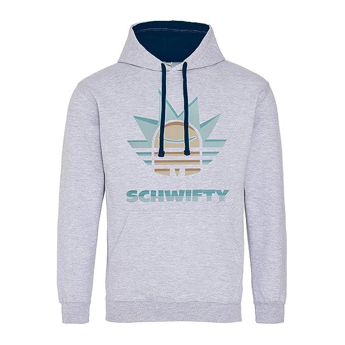 CHILLTEE Get Schwifty Rick & Morty Premium Sudadera con Capucha Unisex: Amazon.es: Ropa y accesorios