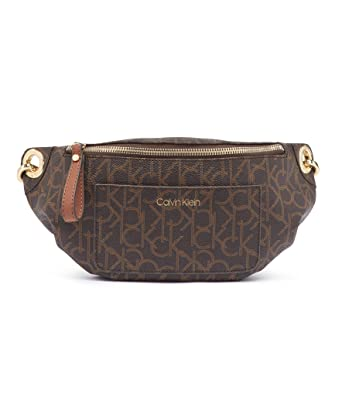 bb9b88e9de Calvin Klein Sonoma Signature Monogram Belt Bag, brown/khaki/luggage  saffiano