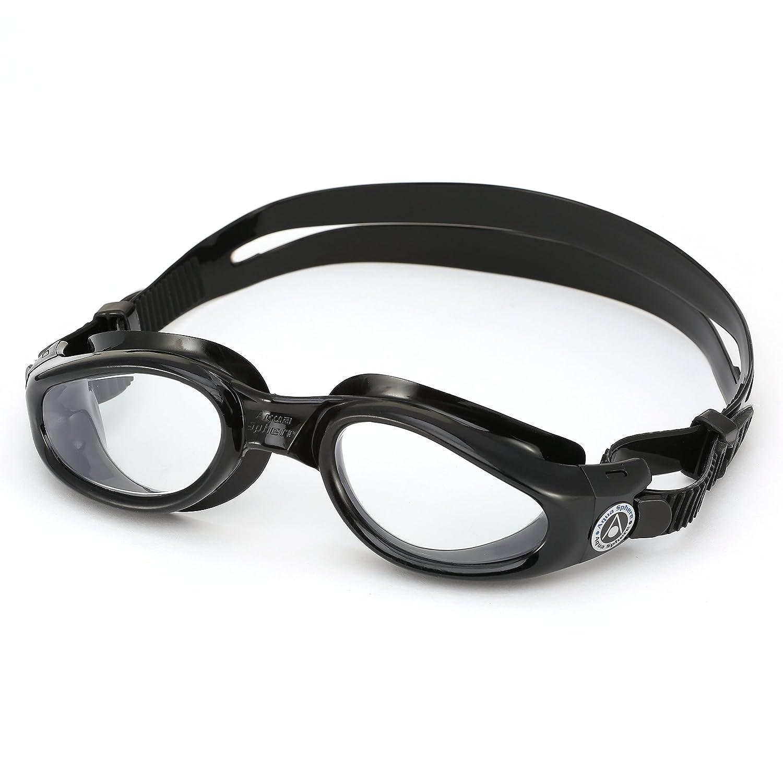 3376e42375c Aqua Sphere Kaiman Swim Goggle - Clear Lens - Black Frame Swimming   Amazon.co.uk  Sports   Outdoors