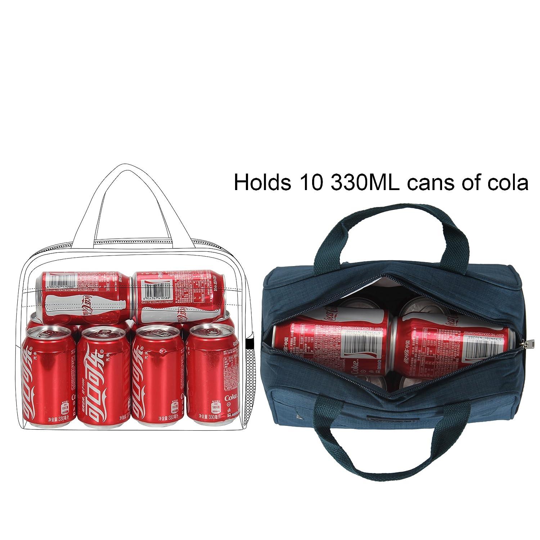 Veegul Recycle Isolierte K/ühltasche Lunchbox Lunch-Tasche f/ür Office School Dunkelblau