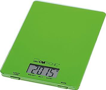 Clatronic KW 3626 Báscula de cocina digital, 5 kg pasos 1 g, función tara Verde: Clatronic: Amazon.es: Hogar
