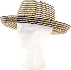 Sloggers Faby, Women's Short Brim Two Tone Braided Hat, Light and Dark Brown, Wo's Size Medium, Style 4412BN-UPF 50+ (Discontinued by Manufacturer)
