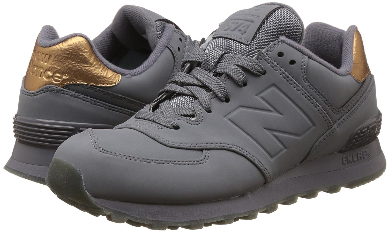 New Balance Women's 574 Molten Metal Pack Fashion Sneaker B01CQVI1C4 5.5 B(M) US|Gunmetal