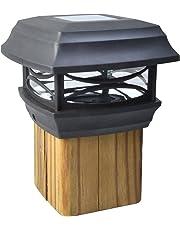 Moonrays 91253 Solar LED Cap Lamp Post for 4x4 Wooden Posts (Black)
